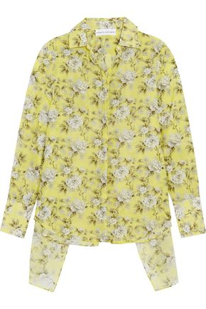 ROBERT RODRIGUEZ Open-back floral-print cotton and silk-blend shirt