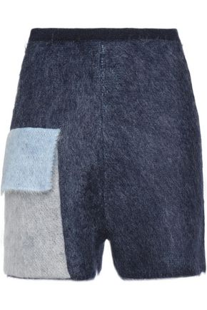 VIONNET Color-block mohair-blend shorts