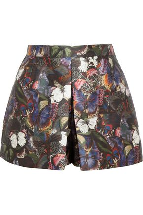 VALENTINO Printed scuba-satin shorts