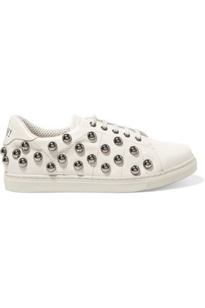 REDValentino Embellished leather sneakers