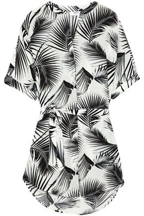 MIKOH Printed silk coverup