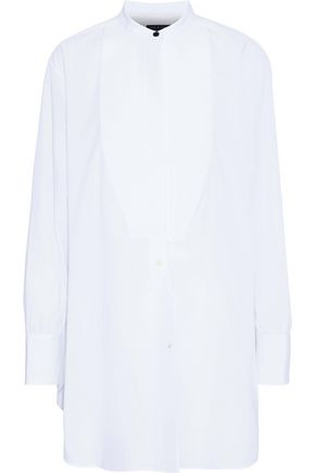 RAG & BONE Piqué-paneled cotton top