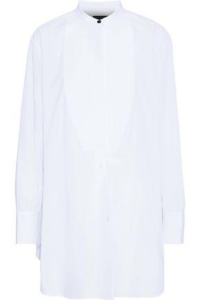 RAG & BONE Piqué-paneled cotton-poplin tunic
