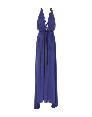 Фото - Женское длинное платье STELIOS KOUDOUNARIS фиолетового цвета
