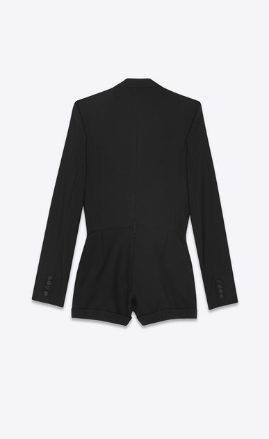 SAINT LAURENT Jumpsuit Woman Tuxedo playsuit in black gabardine b_V4