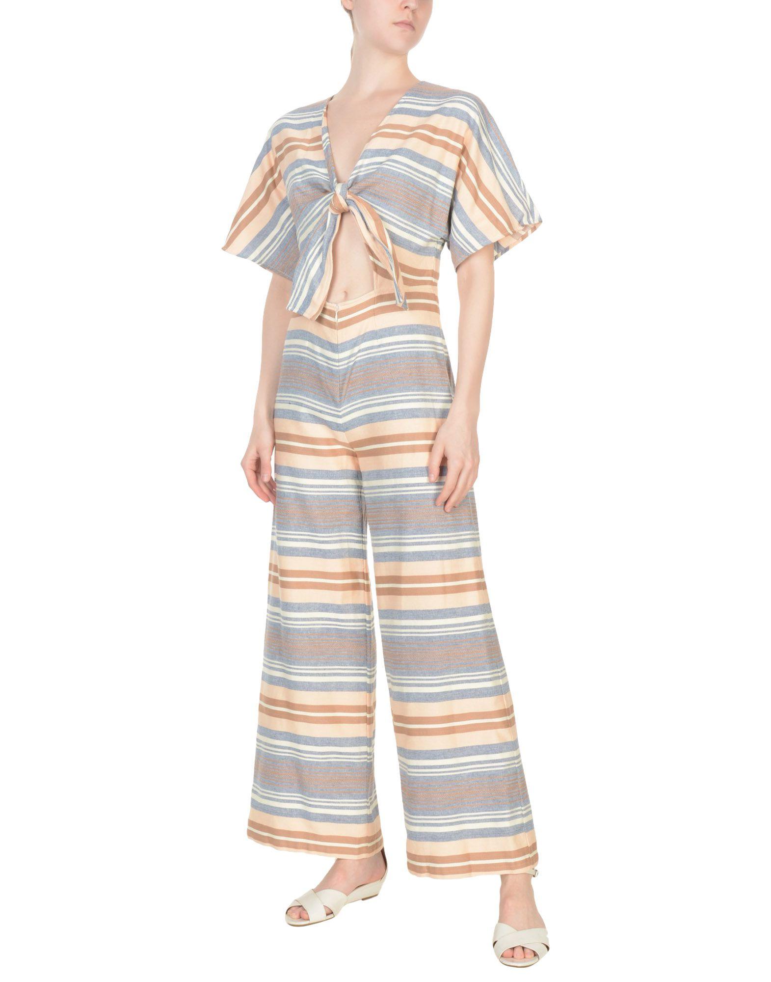 SOLID & STRIPED Комбинезоны без бретелей striped longline tshirt