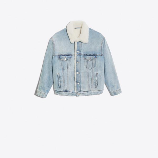 Shearling Denim Jacket