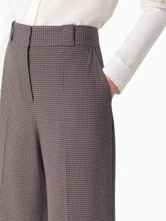 Pantalon évasé pied-de-poule