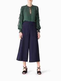 Pantalon court en crêpe