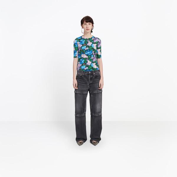 Zipped Denim Pants