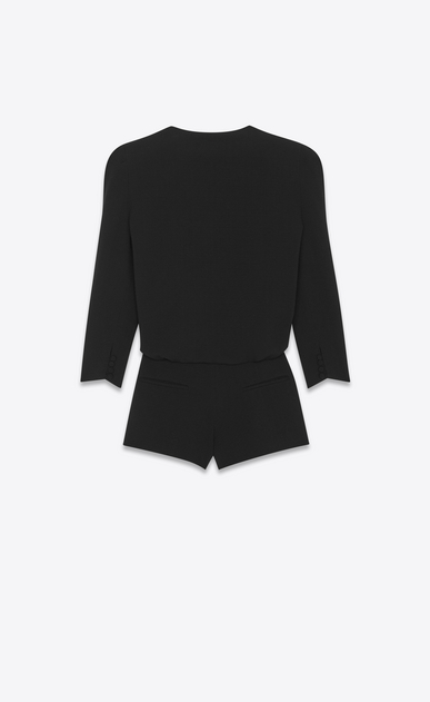 SAINT LAURENT Jumpsuit Woman shawl collar draped jumpsuit in sablé saint laurent b_V4