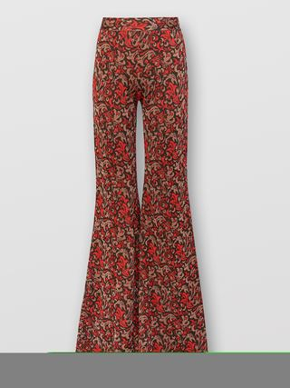 Baroque flared pants