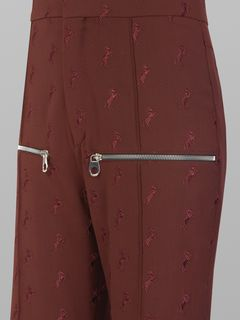 Flared embroidered pants