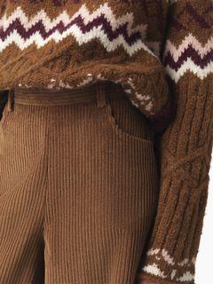 Pantalon court en velours côtelé