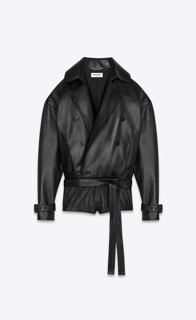 SAINT LAURENT Jumpsuit Woman lambskin jumpsuit a_V4