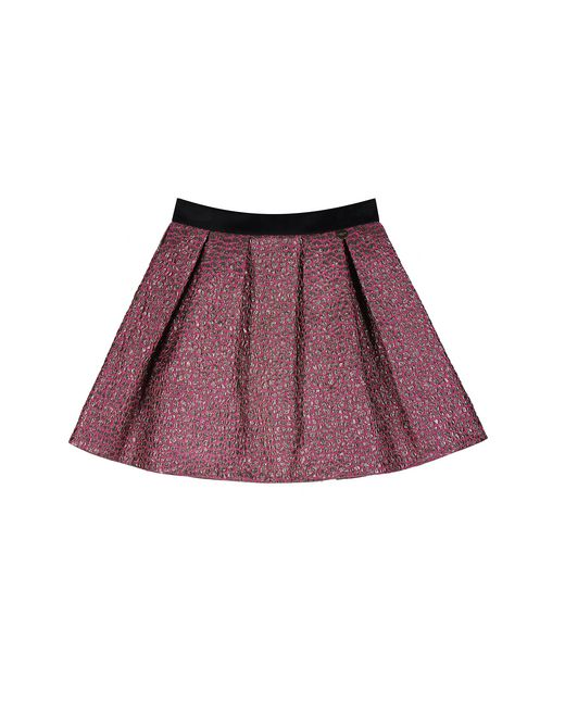 FUCHSIA AND GOLD JACQUARD SKIRT - Lanvin