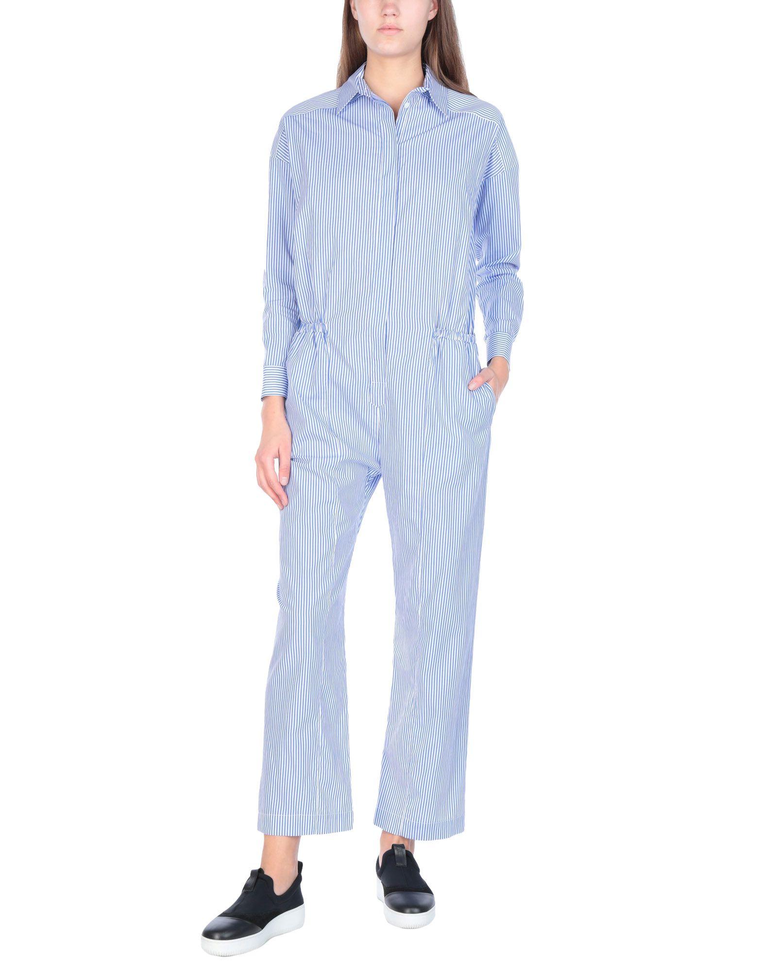《送料無料》LUCILLE レディース ジャンプスーツ ブルー 38 コットン 100%