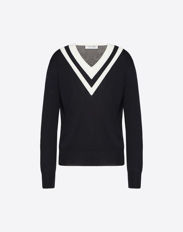 Wool Jumper with Contrast Details