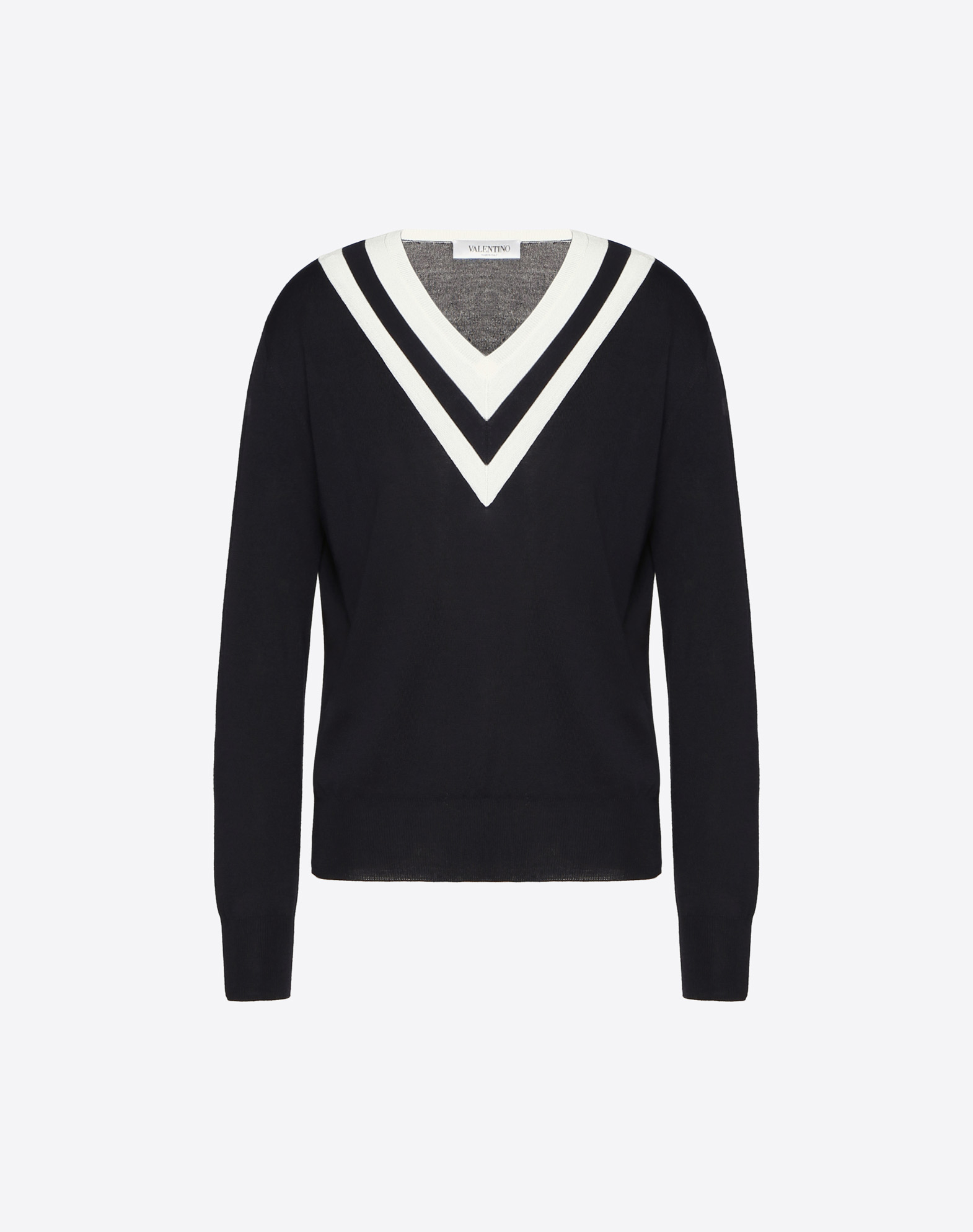 Jersey de lana con detalles en contraste