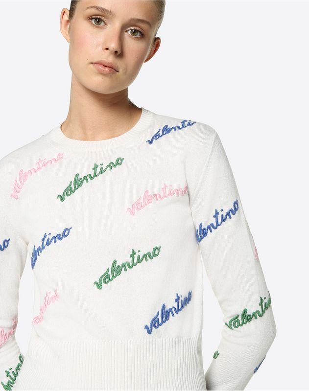 Jersey de lana-cachemir con bordado Valentino