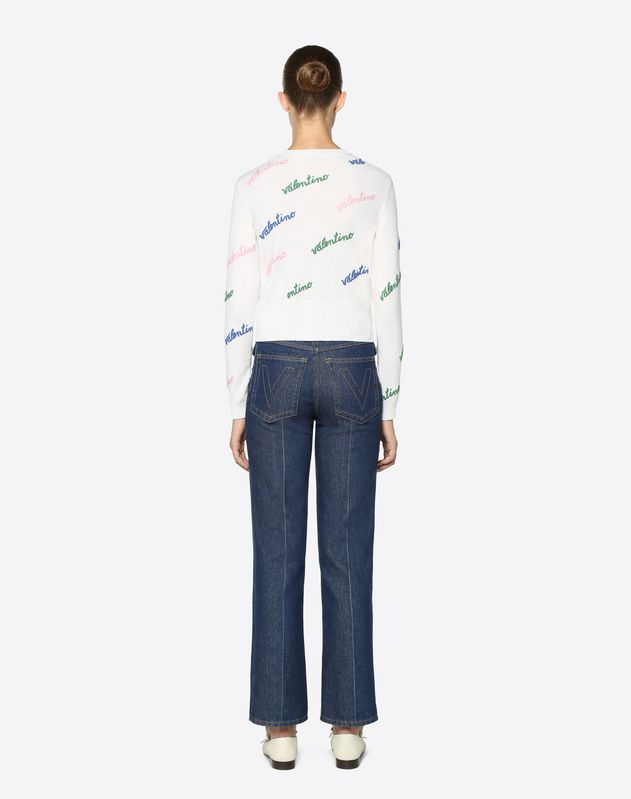 Valentino Embroidered Cashmere Wool Jumper