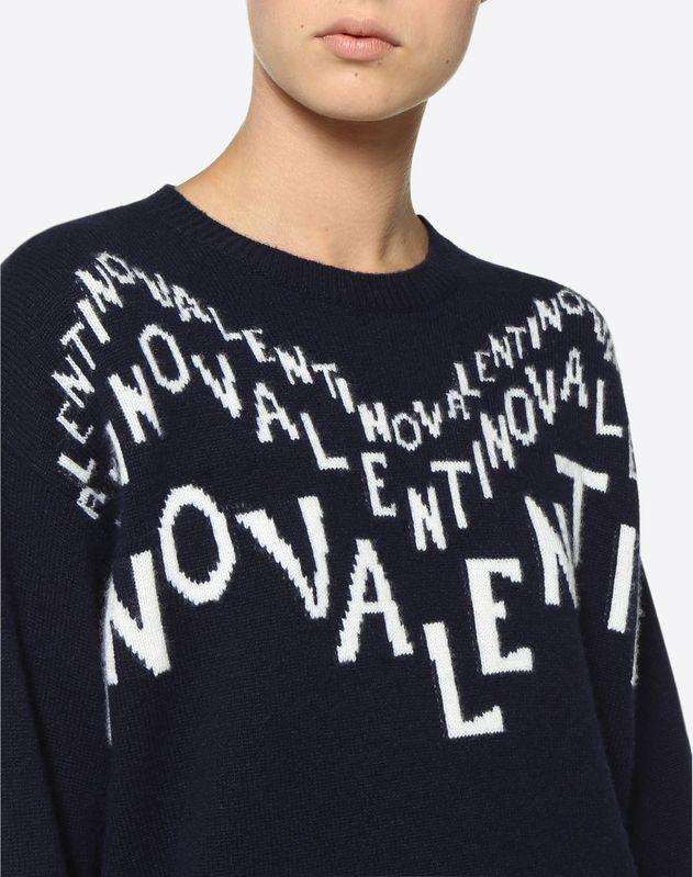 Valentino Chevron inlay Wool Sweater