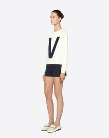 Stretch Viscose Inlay Sweater