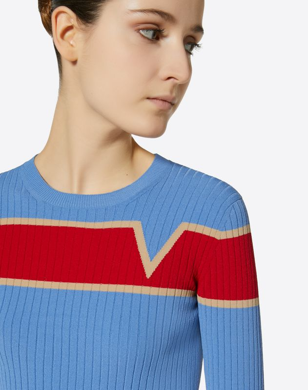Stretch Viscose Inlay Jumper