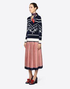 Cashmere Wool Valentino Chevron Inlay Sweater