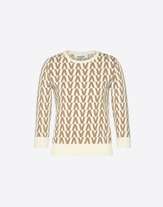 Valentino Optical Cashmere Wool Sweater