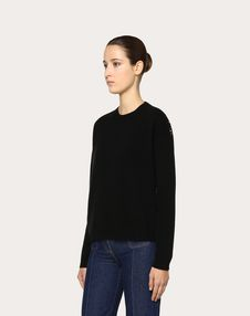 Cashmere Wool and Heavy Lace Jumper