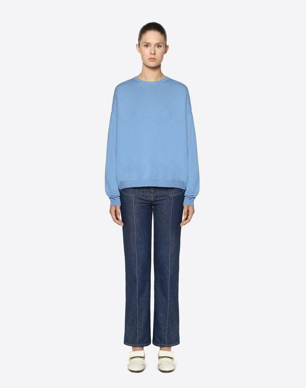 Jersey de lana-cachemir y guipur