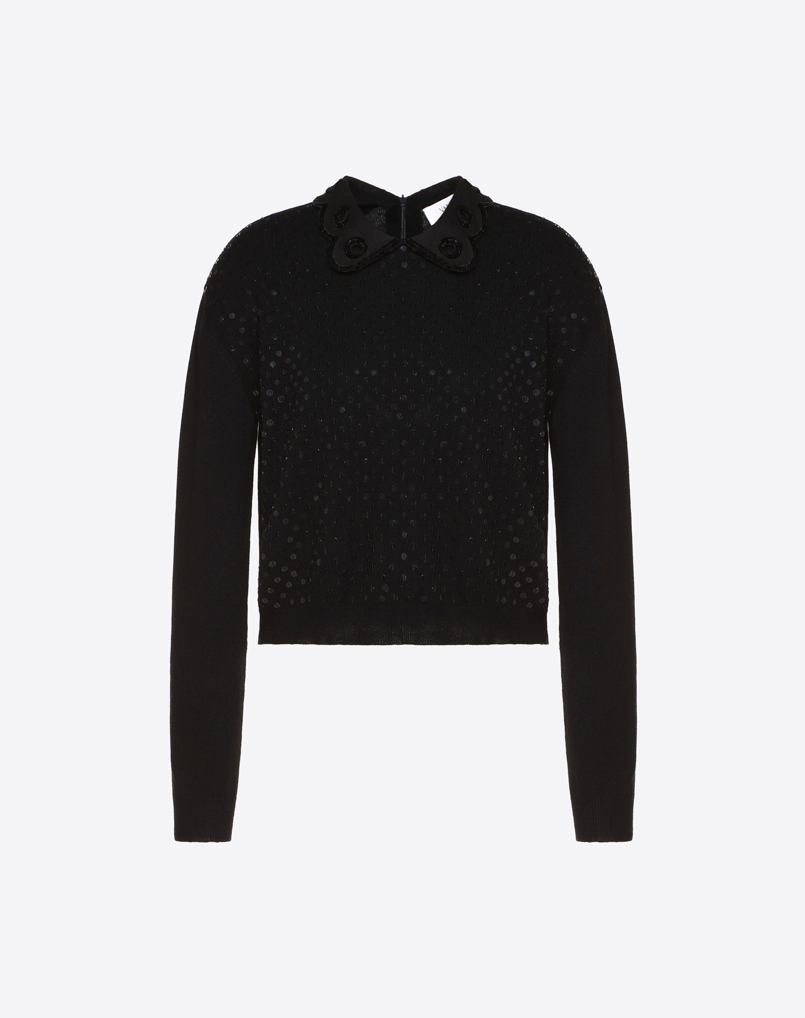 Jersey de cachemir bordado