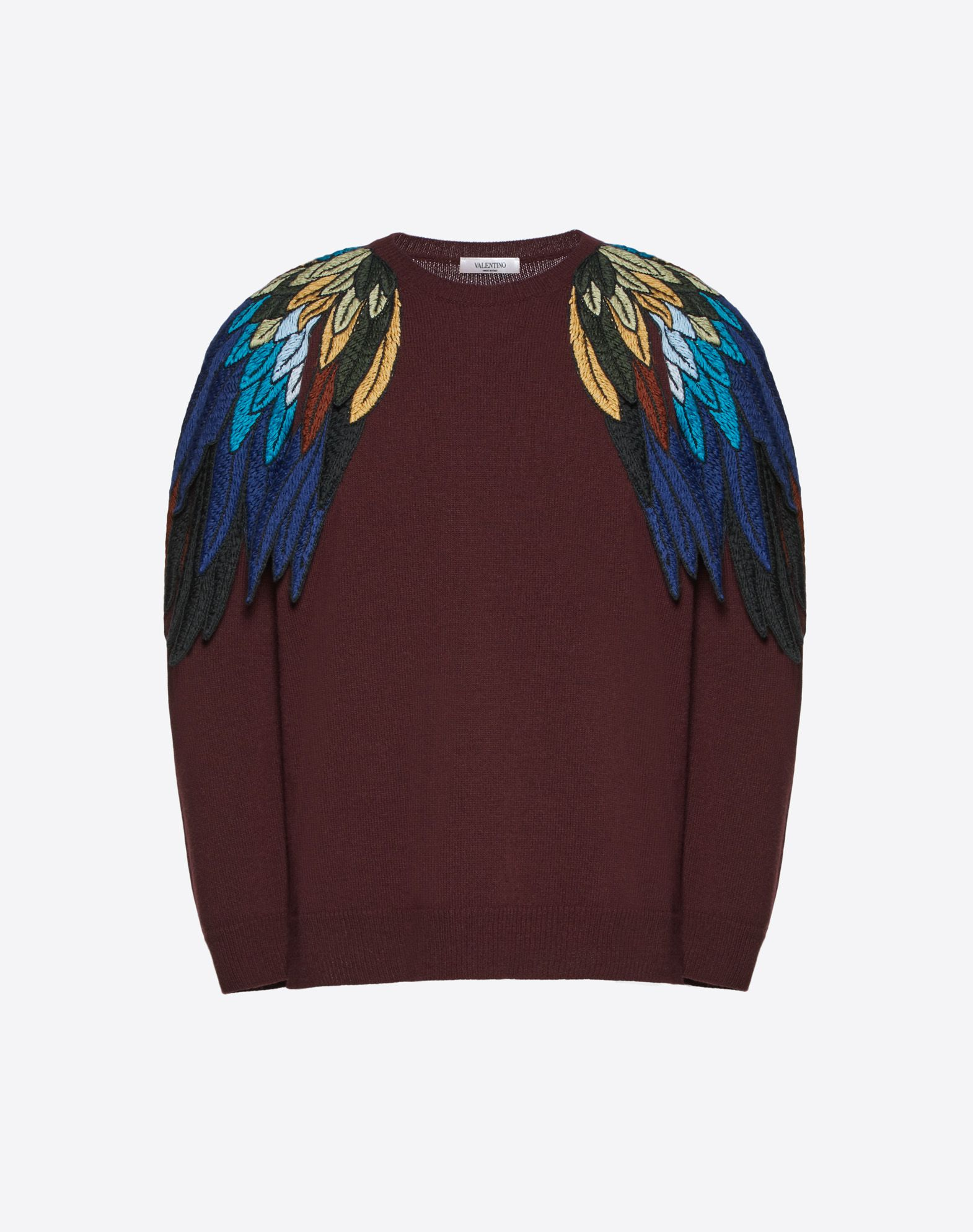 JUMPER WITH ANGEL WINGS INTARSIA