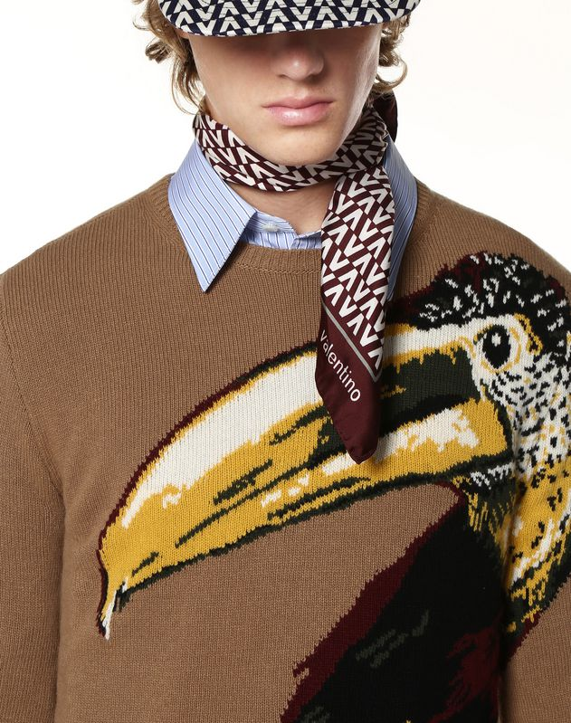 TOUCAN INLAY SWEATER