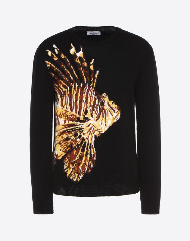 鲉鱼嵌花针织衫