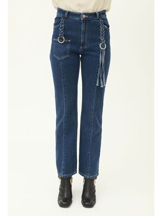 Braided jeans