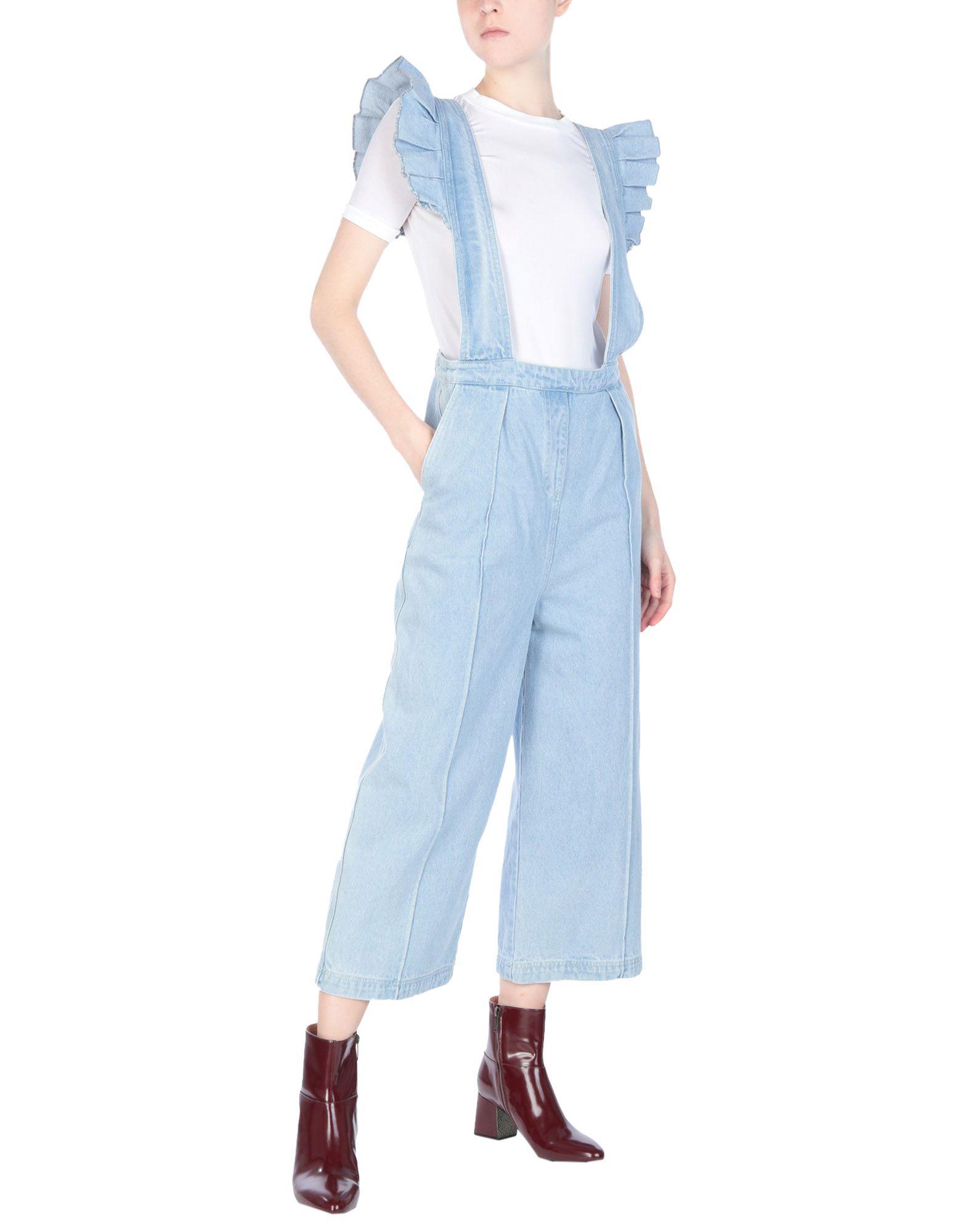 《送料無料》WEILI ZHENG レディース パンツジャンプスーツ ブルー S コットン 100%
