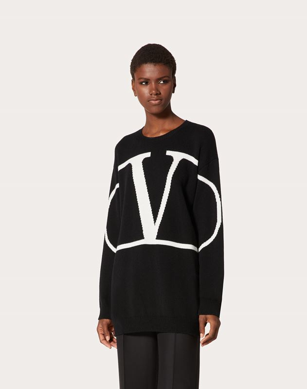 VLOGO Embroidered Cashmere Sweater