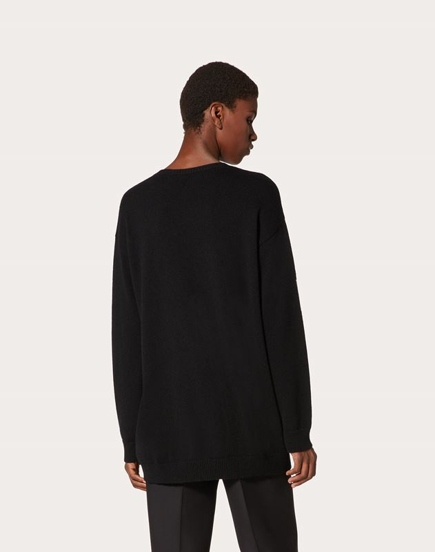 VLOGO Embroidered cashmere Jumper