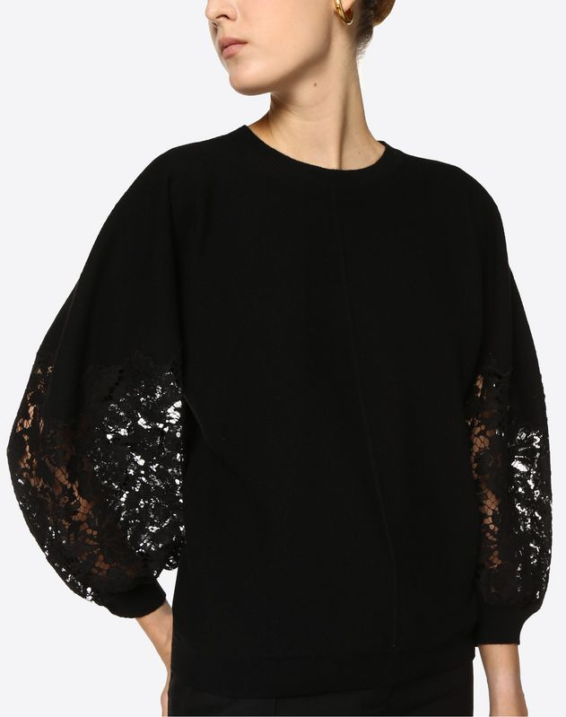 Wool and Heavy Lace Sweater