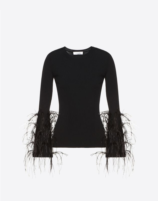 Embellished Stretch Viscose Sweater