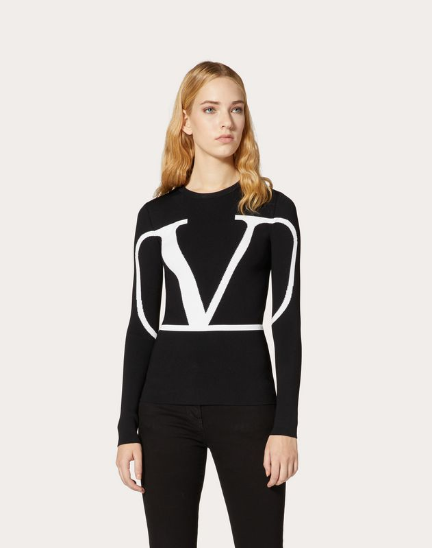 VLOGO Stretch-Viscose Jumper