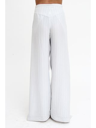 Wrap-effect pants