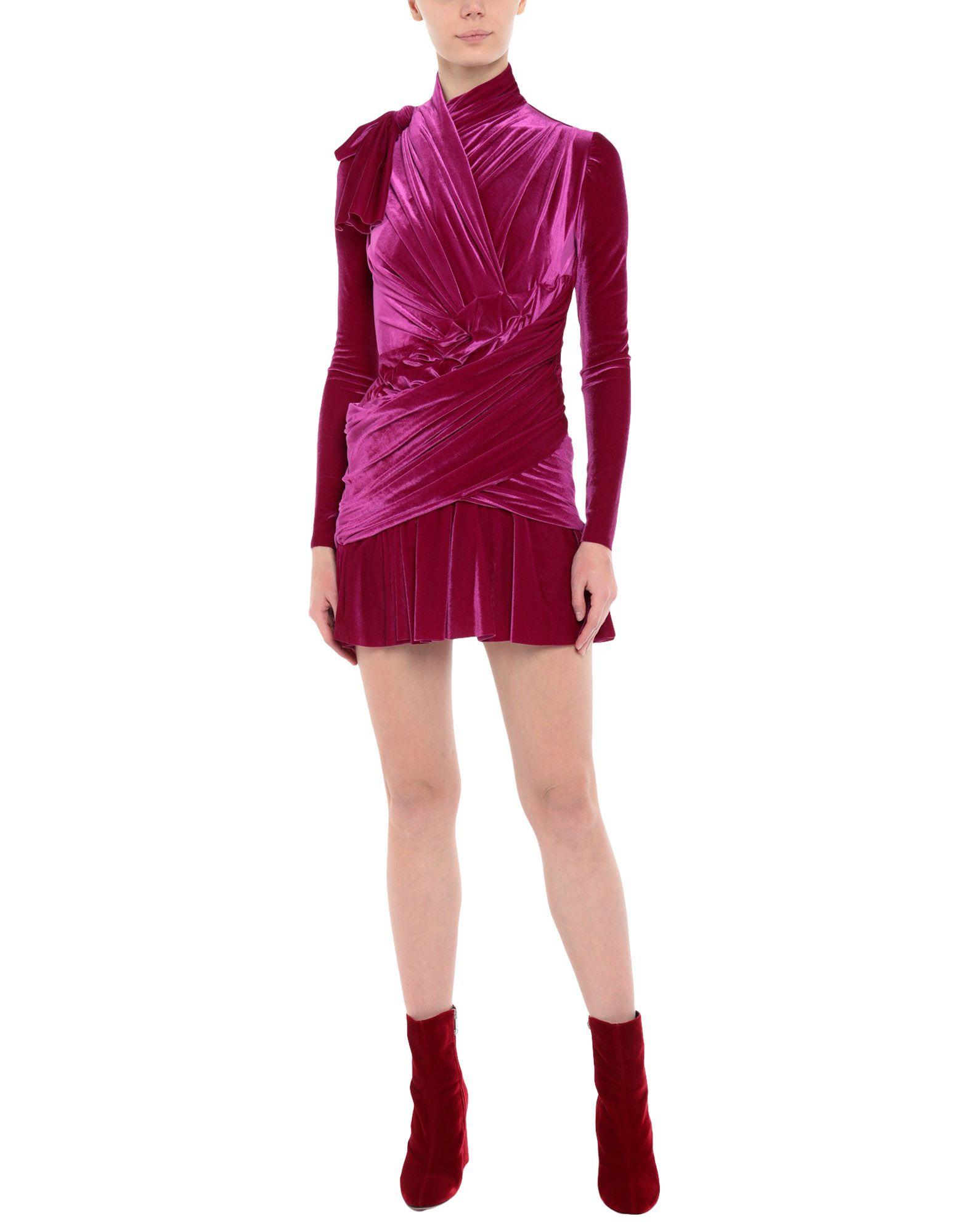 《期間限定セール開催中!》BALENCIAGA レディース ミニワンピース&ドレス フューシャ 36 ナイロン 85% / ポリウレタン 15%
