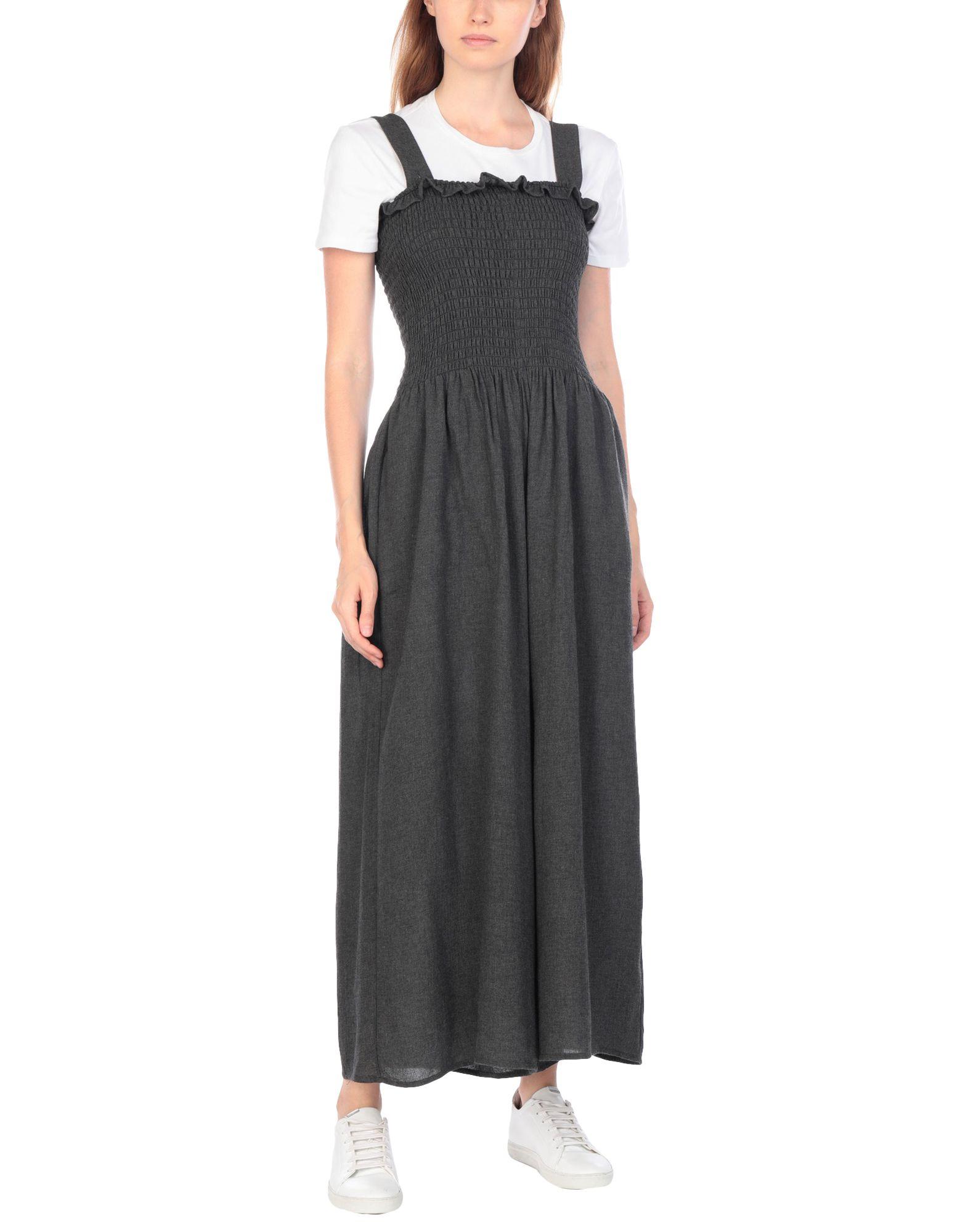 MM6 MAISON MARGIELA Overalls. flannel, frills, basic solid color, deep neckline, sleeveless, no pockets. 75% Viscose, 25% Virgin Wool