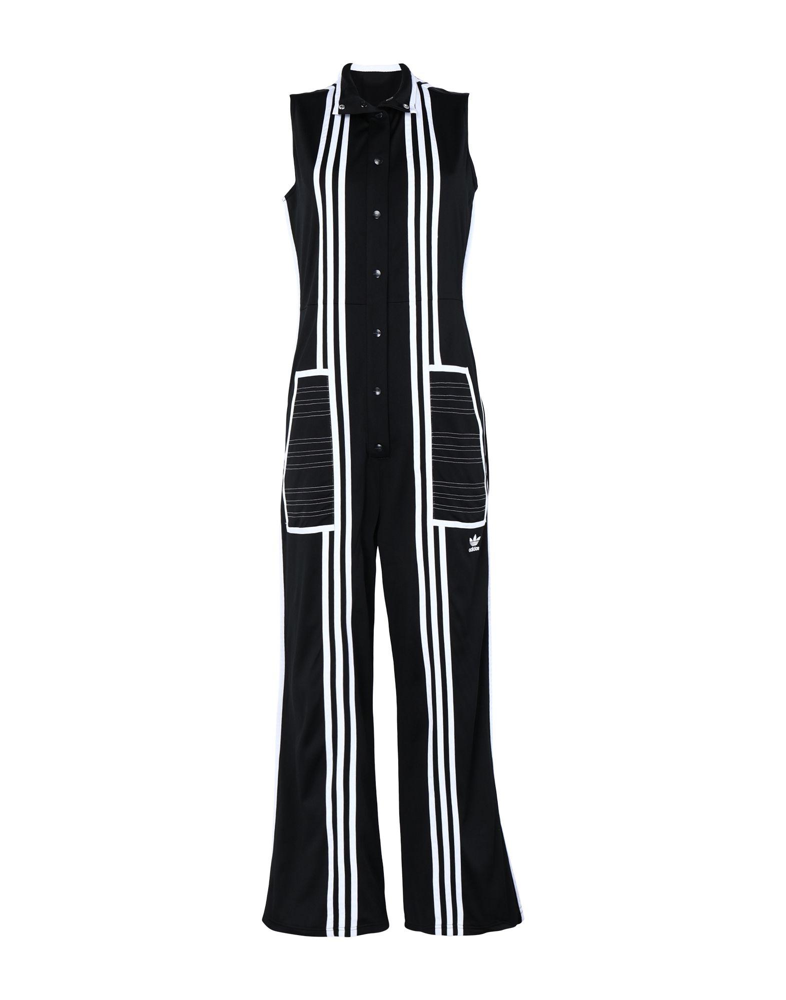 《期間限定 セール開催中》ADIDAS ORIGINALS x JI WON CHOI レディース ジャンプスーツ ブラック 34 リサイクルポリエステル 100% JUMPSUIT