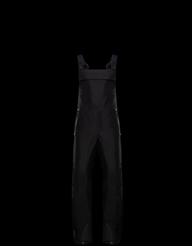 DUNGAREES Black Grenoble Trousers
