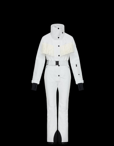 SKI SUIT White 3 Moncler Grenoble Woman