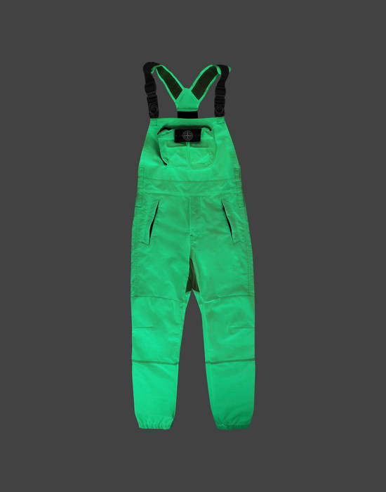 STONE ISLAND JUNIOR F0141 GLOW IN THE DARK  OVERALL Man Green